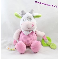 Doudou of cow activity words of children rose 26 cm