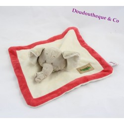 Doudou flat elephant BENGY 23x23cm Jungle collection