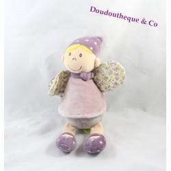 Doudou poupée Sidonie fée TITOUTAM mauve violet 25 cm