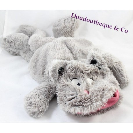 Peluche Chat Gris Et Blanc Etam Range Pyjama Ou Bouillotte Sos Bl