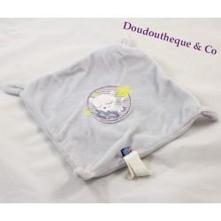 Doudou Plat Chat SUCRE D'ORGE gris étoile noeud