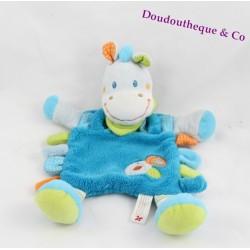 Doudou horse zebra donkey NICOTOY grey blue bandana green