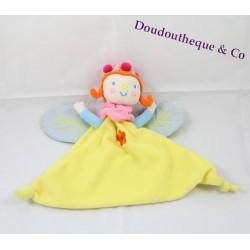 Doudou Fée MOULIN ROTY Katherine Roumanoff jaune marionnette fleur