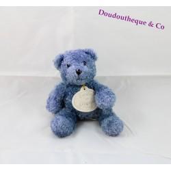 Doudou Ours bleu DOUDOU ET COMPAGNIE 16 cm