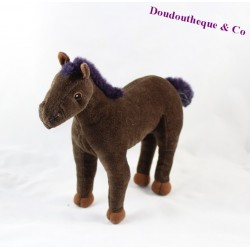 IKEA Brown reflection horse plush purple 22 cm
