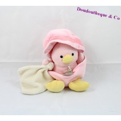 Doudou coquille Poussin DOUDOU ET COMPAGNIE rose canard coquille mouchoir