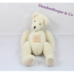 Teddy bear puppies MOULIN ROTY articulated white 23 cm