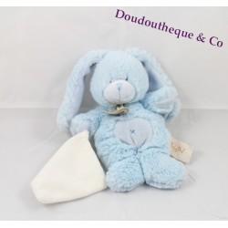 Plush doudou rabbit BABY NAT' white handkerchief hugs