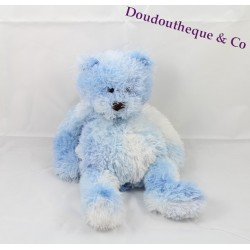 Peluche Ours CMP blanc et bleu chiné  28 cm