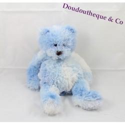 Teddy bear CMP blue and white mottled 28 cm