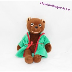 Stuffed little bear Brown AJENA Apple of API 25 cm green bathrobe