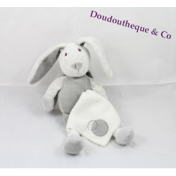 Plush rabbit grey handkerchief white BABY NAT ' 24 cm pacifier