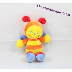 Peluche Abeille Pommette orange rouge et jaune