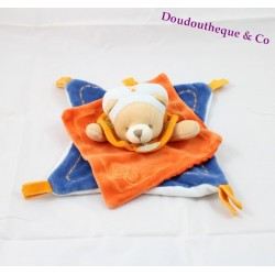 Doudou dish bears DOUDOU and company Indidou orange and blue collection