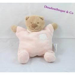 Semi flat comforter bear NATTOU cloud pink bell 22 cm