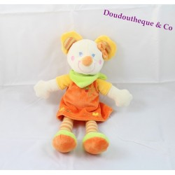 Smile mouse MOTS OF ENFANTS Orange dress Leclerc 34 cm