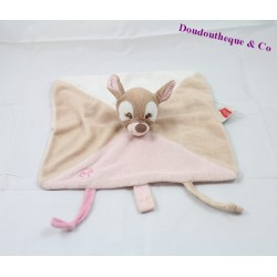 Doudou dish Biche Rosy Faon NATTOU Emil and Rosy pink tether