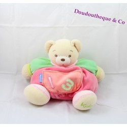 Doudou ours KALOO collection 1.2.3 poche brodé 30 cm