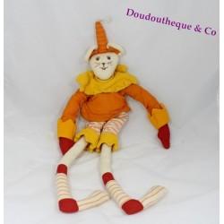 Poupée souris L'OISEAU BATEAU orange jaune 50 cm