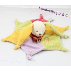 Doudou flat rabbit DOUDOU AND COMPAGNIE Harlequin Rabbit yellow green 32 cm