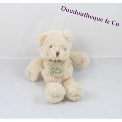 Doudou ours HISTOIRE D'OURS beige poils long 19 cm