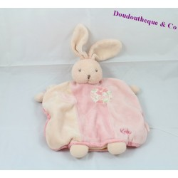 Doudou puppet rabbit KALOO Lilirose flowers collection rose 26 cm