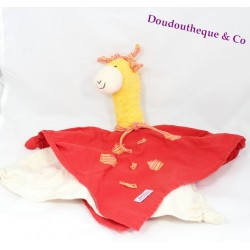 Peluche doudou Girafe jaune et rouge KATHE KRUSSE 39 cm