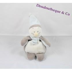 Peluche Pingouin Noukie's gris et blanc echarpe bleu