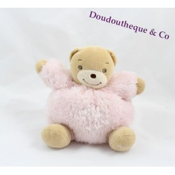 Teddy bear KALOO pink Fur Fur 15 cm