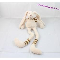 Doudou pantin lapin BABY NAT Les p'tits mousse longues jambes 30 cm