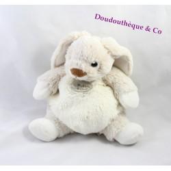 Doudou lapin HISTOIRE D'OURS Les Z'animoos HO2030 beige blanc 23 cm