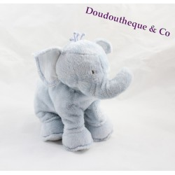 Plush elephant sandwich and Chocolate Blue 25 cm
