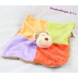 Doudou flat monkey ZEEMAN brown bell 25 cm