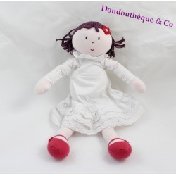 Poupée chiffon Marguerite JACADI ange robe blanche 30 cm