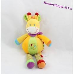 Doudou plat Girafe POMMETTE INTERMARCHE rose