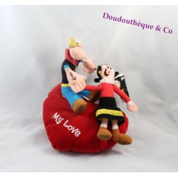 Peluche Popeye PLAY BY PLAY coussin coeur Olive et Popeye