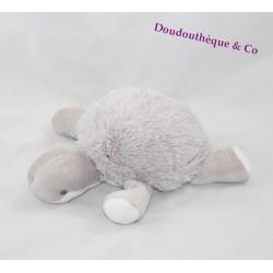 Peluche tortue BNP PARIBAS gris blanc 24 cm