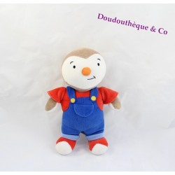 Plush you Charlie AJENA Teddy overalls red and blue 24 cm