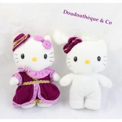 Lot de 2 peluches Hello Kitty Médiéval couple garçon fille