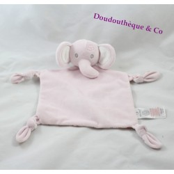 Flat Doudou elephant EARLY DAYS PRIMARK pink flowery 30 cm