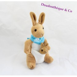 DOUDOU kangourou ADIDAS eurocom Pub avec foulard bleu
