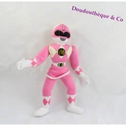 Poupée Tissu KID DIMENSION Power Rangers Force Rose 31 Cm 1994
