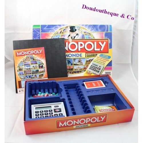 jeu de soci t monopoly monde hasbro electronique complet. Black Bedroom Furniture Sets. Home Design Ideas