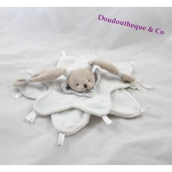 Doudou flat heavenly white BLANKIE and company rabbit star my blankie 26 cm