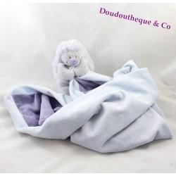 Doudou couverture l'âne Paco NOUKIE'S bleu beige collection XL