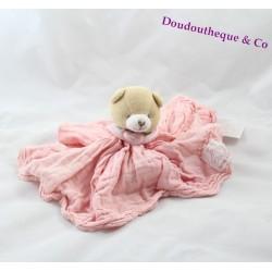 Doudou ours DOUDOU ET COMPAGNIE L'ange rose GM DC2363