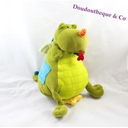 Doudou d'éveil Walter le dragon LILLIPUTIENS 23cm
