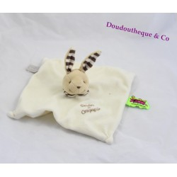Rabbit flat comforter DOUDOU AND COMPANY Tatoo beige striped collar brown