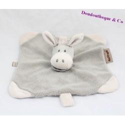 Doudou flat donkey NATTOU Cappuccino white grey 26 cm