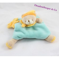 Doudou bear DOUDOU AND COMPAGNIE Graffitis bear mint blue orange green